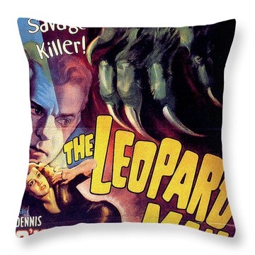 The Leopard Man Throw Pillow by Movieworld Posters