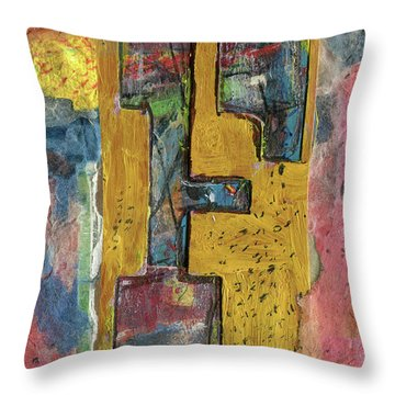 The Letter F Throw Pillow