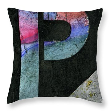 The Letter P Throw Pillow