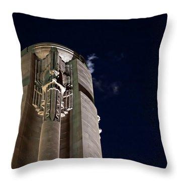 The Liberty Memorial At Night Throw Pillow