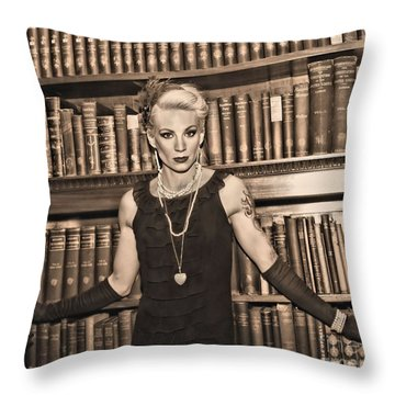 The Librarian Throw Pillow