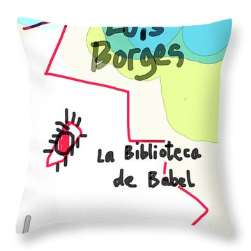 The Library Of Babel  Throw Pillow