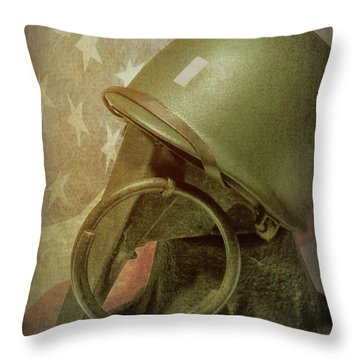 Throw Pillow featuring the photograph The Lieutenant by Tom Mc Nemar