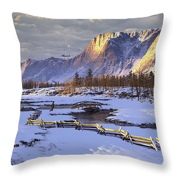 The Life Of Snow Throw Pillow