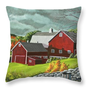 The Light After The Storm Throw Pillow by Charlotte Blanchard