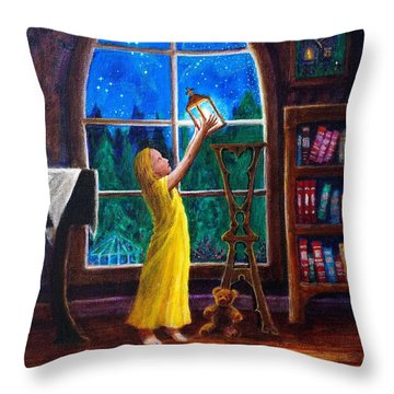 The Light And The Lampstand Throw Pillow