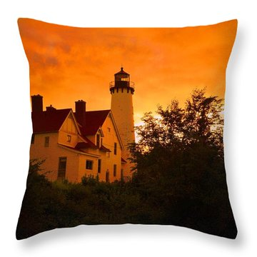 The Light At Dusk Throw Pillow