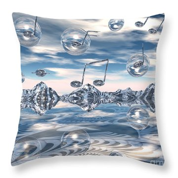 The Light Bender Cantata Throw Pillow by Michelle H
