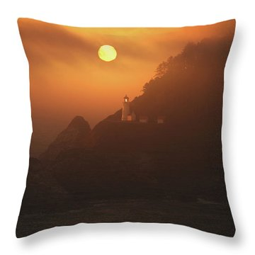 The Light Throw Pillow by Bonnie Bruno
