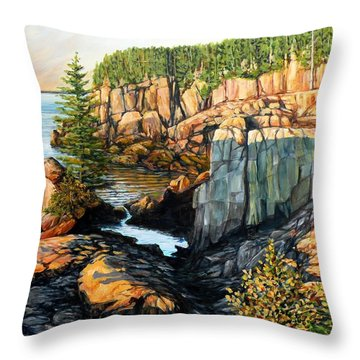 The Light Dawns On West Quoddy Head Throw Pillow