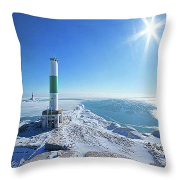 Throw Pillow featuring the photograph The Light Keepers by Phil Koch