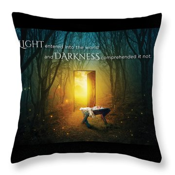 The Light Of Life Throw Pillow