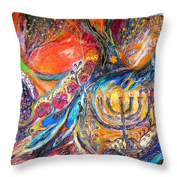 The Light Of Menorah Throw Pillow