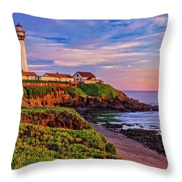 The Light Of Sunset Throw Pillow