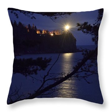 Throw Pillow featuring the photograph The Light Shines Through by Larry Ricker