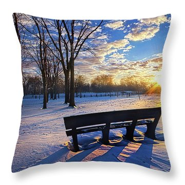 Throw Pillow featuring the photograph The Light That Beckons by Phil Koch