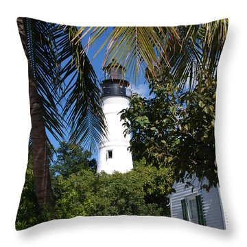 The Lighthouse In Key West II Throw Pillow