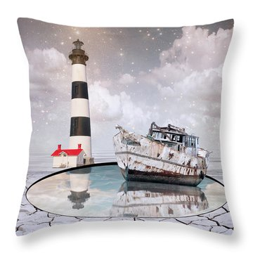 Throw Pillow featuring the photograph The Lighthouse by Juli Scalzi