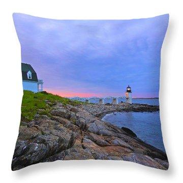 The Lighthouse Keeper Throw Pillow