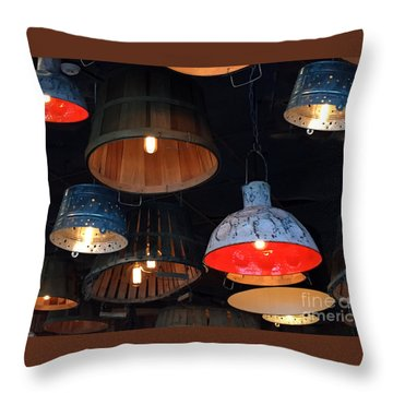 The Lights Above Throw Pillow