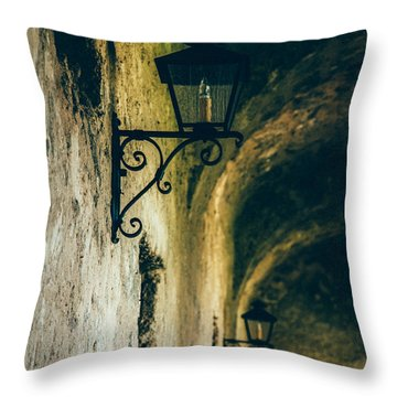 The Lights Throw Pillow by Iris Greenwell