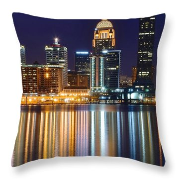 The Lights Of A Louisville Night Throw Pillow