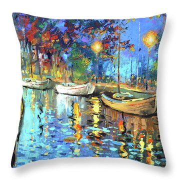 The Lights Of The Sleeping City Throw Pillow