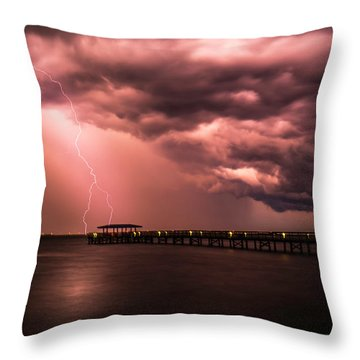 The Lightshow Throw Pillow