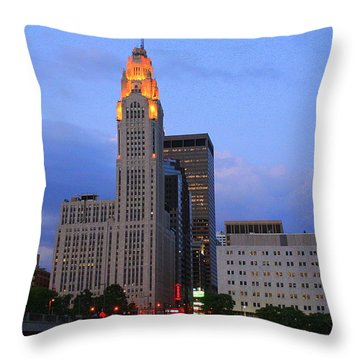 The Lincoln Leveque Tower Throw Pillow by Laurel Talabere
