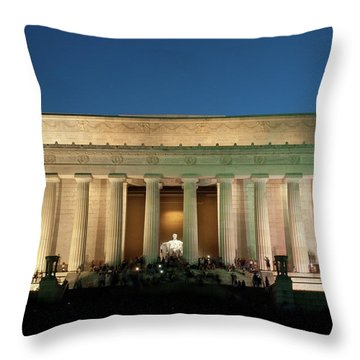 Throw Pillow featuring the photograph The Lincoln Memorial by Mark Dodd