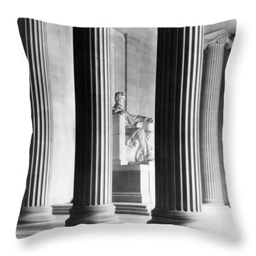 The Lincoln Memorial Throw Pillow by War Is Hell Store