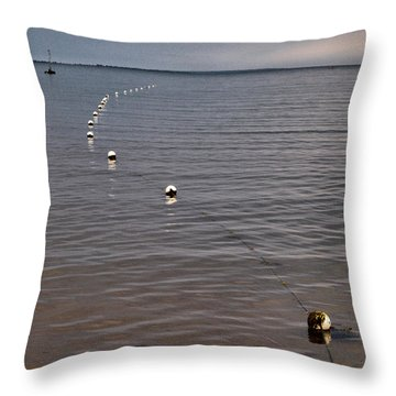 Throw Pillow featuring the photograph The Line by Jouko Lehto