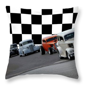 The Line-up Throw Pillow by Betty Northcutt