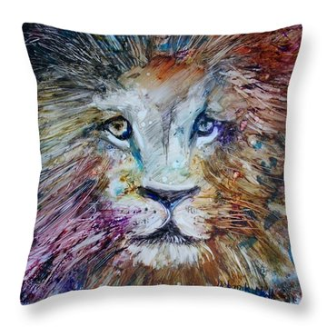 The Lion Throw Pillow
