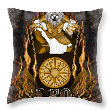 The Lion Leo Spirit Throw Pillow