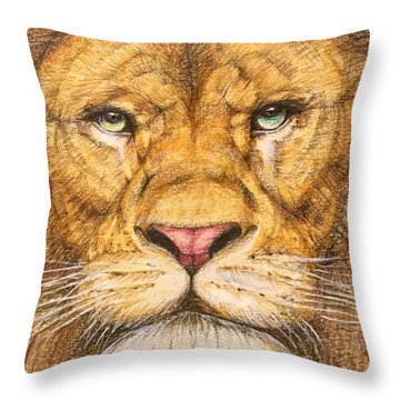 The Lion Roar Of Freedom Throw Pillow by Kent Chua