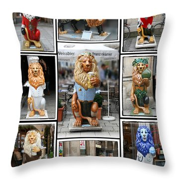 The Lions Of Munich Throw Pillow