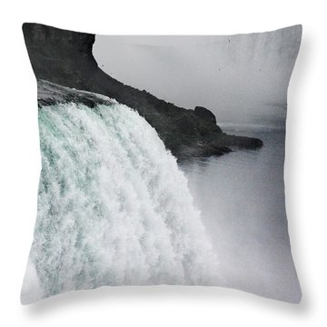 Throw Pillow featuring the photograph The Liquid Curtain by Dana DiPasquale