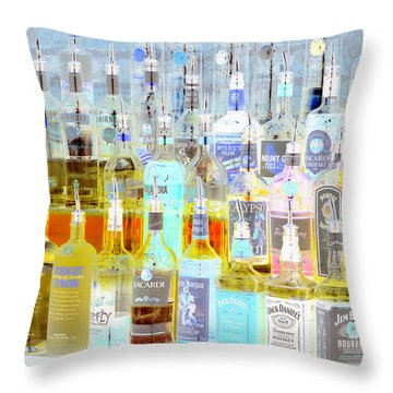 The Liquor Cabinet Throw Pillow