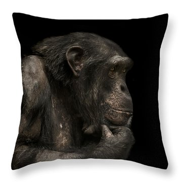 The Listener Throw Pillow by Paul Neville