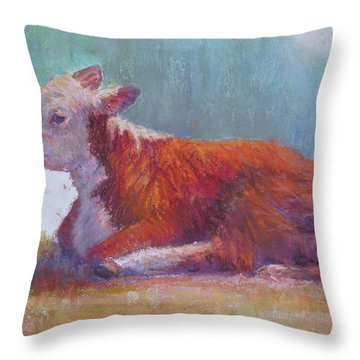 The Listener Throw Pillow by Susan Williamson