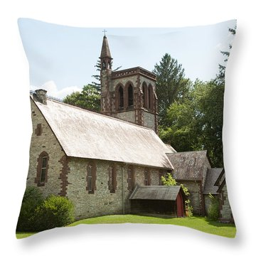 The Little Brown Church In The Vale Throw Pillow by Carol Lynn Coronios