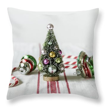 Throw Pillow featuring the photograph The Little Christmas Tree by Kim Hojnacki
