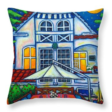 The Little Festive Danish House Throw Pillow