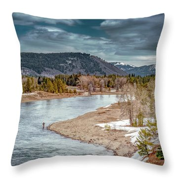 The Little Fisherman Throw Pillow