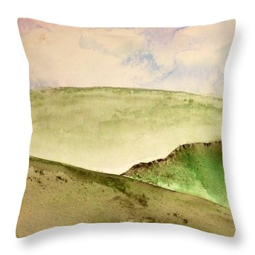 Throw Pillow featuring the painting The Little Hills Rejoice by Antonio Romero