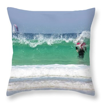 Throw Pillow featuring the photograph The Little Mermaid by Terri Waters