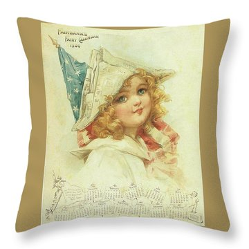 The Little Patriot Throw Pillow