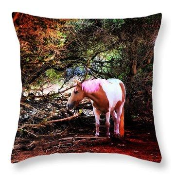 The Little Pink Unicorn By Pedro Cardona Throw Pillow by Pedro Cardona Llambias