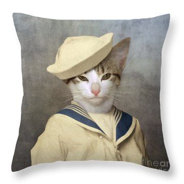 The Little Rascal Throw Pillow by Martine Roch